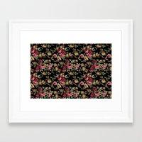 vintage flowers Framed Art Prints featuring Vintage Flowers by Eduardo Doreni