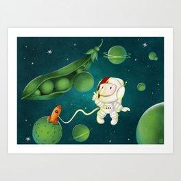 Green Peas Galaxy Art Print