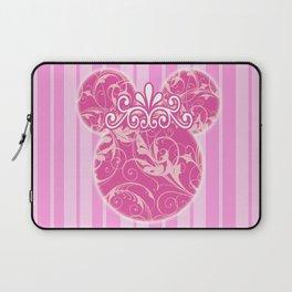 Minnie Mouse Princess Pink Swirls Laptop Sleeve