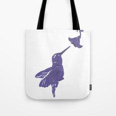 Lavender Hummingbird Papercut Tote Bag