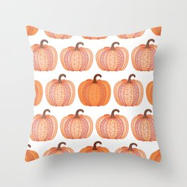 Patterned Pumpkin Throw Pillow