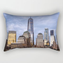 Cityscape of Financial District of New York Rectangular Pillow