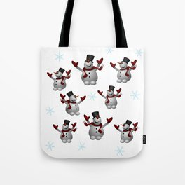 Snowmen and Snowflakes Tote Bag