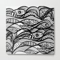 Hand painted black white watercolor abstract floral by pink_water