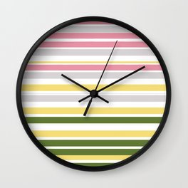 Calm Layers of Pastels Wall Clock