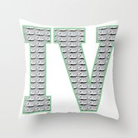 1989 Throw Pillows featuring Cement Retro IV's (1989) by Dogum Design
