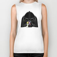 dark side Biker Tanks featuring Dark Side by AWOwens