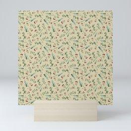 Italian Herbs Pattern Mini Art Print