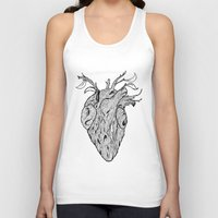wooden Tank Tops featuring Wooden Heart by tvfer
