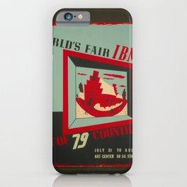 Vintage American WPA Poster - World's Fair IBM Presentation of World Art, Utah Art Center (1940) iPhone Case