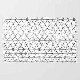 Watercolour triangles Rug