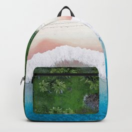 Aerial Tropical Beach Backpack