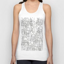 Russian cathedral church line drawing Unisex Tank Top