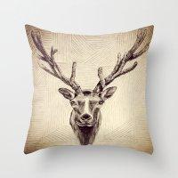elk Throw Pillows featuring Elk  by Werk of Art