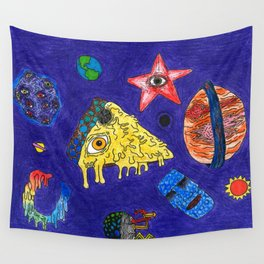 Psychedelic Space Jam Wall Tapestry