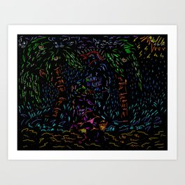 That One Stormy Night In Coconut Grove Miami  Art Print