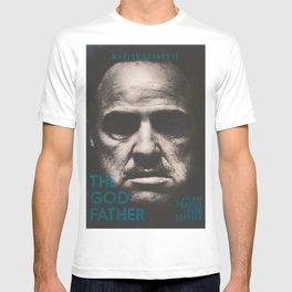 The Godfather, minimalist movie poster, Marlon Brando, Al Pacino, Francis Ford Coppola classic film T-shirt