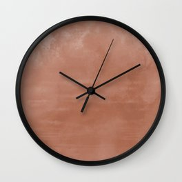 Burst of Color Sherwin Williams Cavern Clay SW7701 Abstract Sponge Watercolor Painting Blend Wall Clock