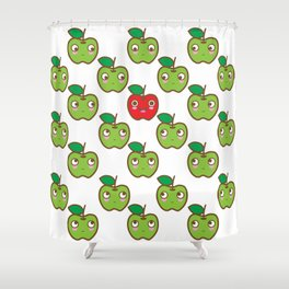We are watching you. Crunch!!! Shower Curtain