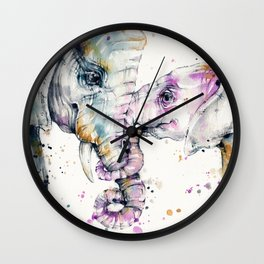 That Type Of Love (Elephants) Wall Clock