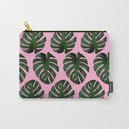 Pink Fronds Carry-All Pouch