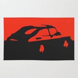 Saab 900 classic, Red on Black Rug
