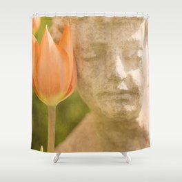 Boy and Tulip, 1 Shower Curtain