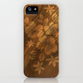 Lilikoi Hibiscus Hawaiian Textural Pareau Design iPhone Case