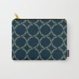 Eucalyptus Patterns with Navy Blue Background Realistic Botanic Patterns Organic & Geometric Pattern Carry-All Pouch