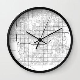 Minimal City Maps - Map Of Gilbert, Arizona, United States Wall Clock