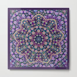 The Purple touch Metal Print