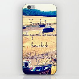 So We Beat On, Boats Against the Shore... iPhone Skin