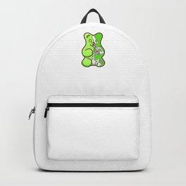 Green Gummy Bear Anatomy Backpack