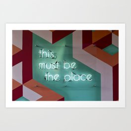 Right Here Art Print