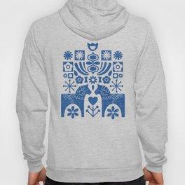 Swedish Folk Art - Blue Hoody