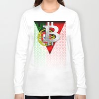 portugal Long Sleeve T-shirts featuring bitcoin Portugal by seb mcnulty