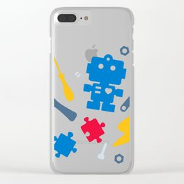 Young Engineer - Blue, Red and Yellow Clear iPhone Case