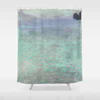 klimt Shower Curtains featuring Klimt at Attersee by anipani