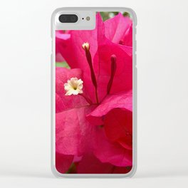 Hot pink flower 45 Clear iPhone Case