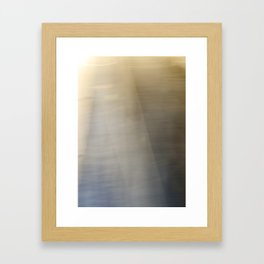 Light and Metal Abstract Framed Art Print