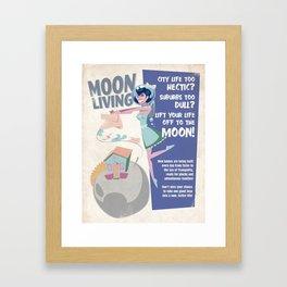 Moon Living Framed Art Print