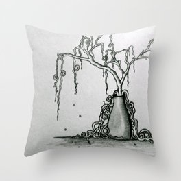 Wilted Plant Throw Pillow