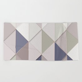 Triangles and Squares Beach Towel