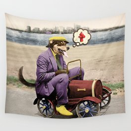 Barkin' Down the Highway! Wall Tapestry