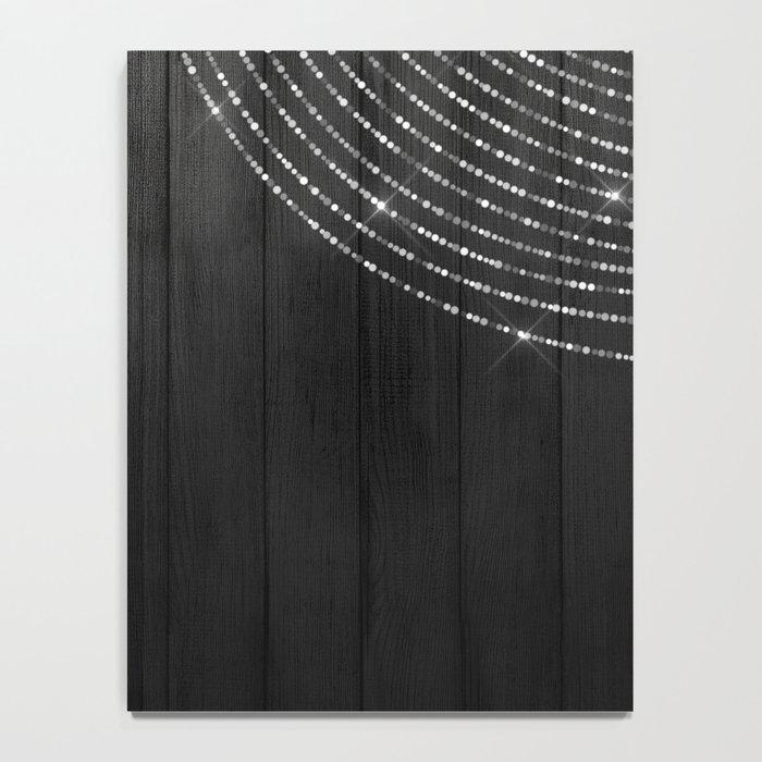 Fairy Lights on Wood 06 Notebook