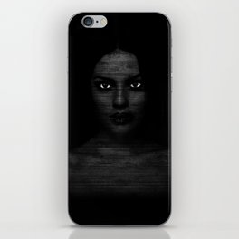 Black and White Portrait of a Beautiful Woman iPhone Skin
