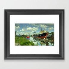Blaengur  at Gdansk Shipyard Framed Art Print