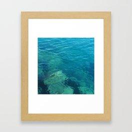 Beau Aqua Framed Art Print
