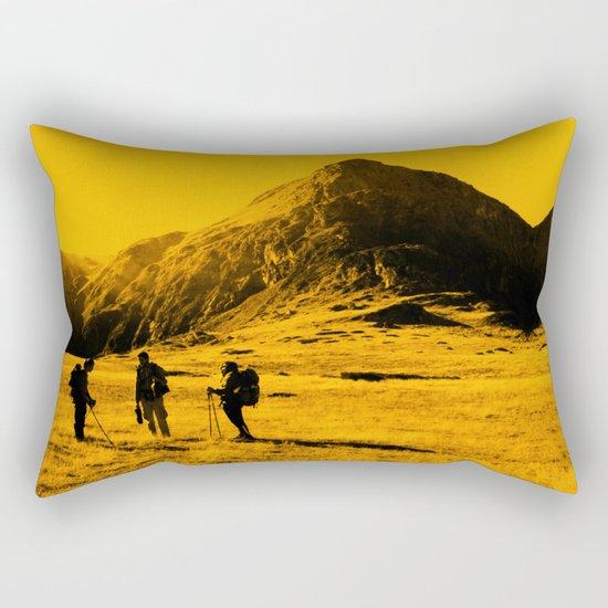 Hello threes of yellow isolation Rectangular Pillow