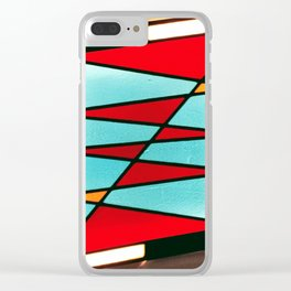 Stained Glass Light Art No.05 Geometric Design Clear iPhone Case